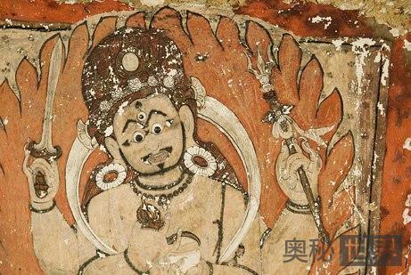洞穴墙壁上发现13至14世纪的绘画作品