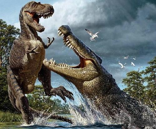 生活在史前以恐龙为食的最大鳄鱼:恐鳄