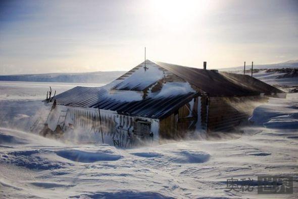 百年前南极探险队藏身木屋