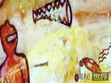 印度远古岩画中惊现外星人与飞碟