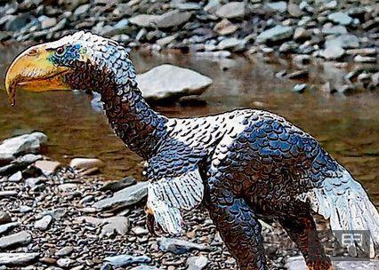 史上最凶残鸟巨型恐怖鸟,高3米重200斤