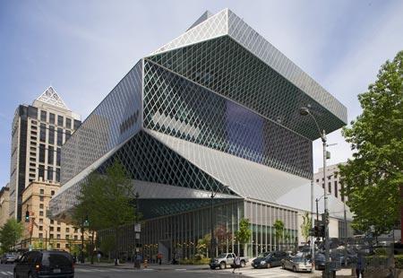 美国,西雅图中央图书馆