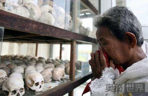 恐怖的柬埔寨红色高棉屠杀人场