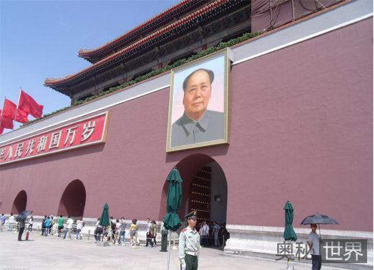 毛主席想照侧面照挂在天安门城楼上