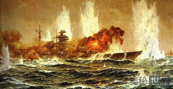 """悲壮的神话,帝国巨舰""""俾斯麦号""""的沉没"""
