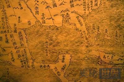 利玛窦古地图以中国为世界中心