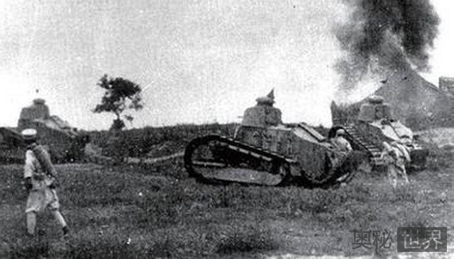 第二次奉直大战奉军坦克不敌国民军猎枪