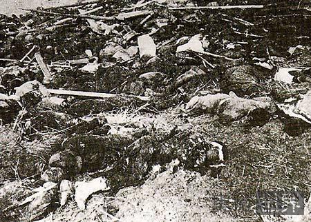 二战中日军强迫南京难民收尸