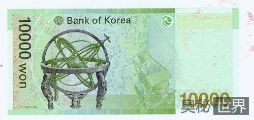 韩国为什么把浑天仪印在他们的纸币上