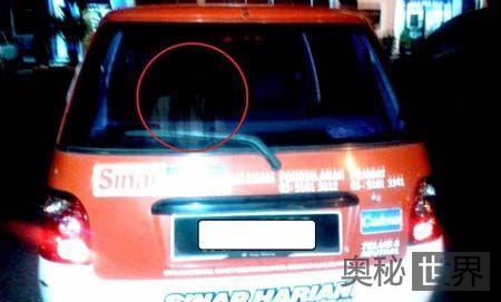 马来西亚车内拍到白衣长发女子影像