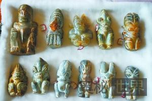 """北京展出疑似""""远古外星人""""雕刻遗物"""