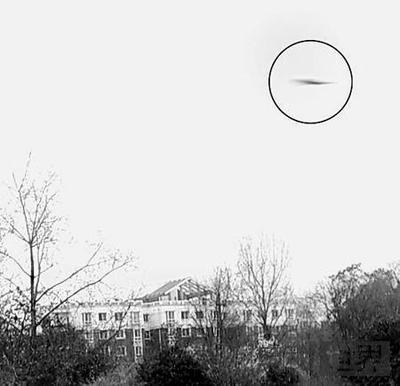 宝鸡市一女士在植物园拍下UFO