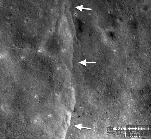 月球正在萎缩,外壳上已形成裂缝