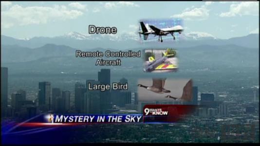 美国丹佛市上空出现不明飞行物差点引起空难