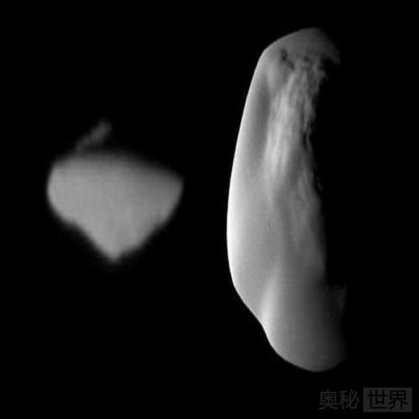 土星神秘UFO状卫星形成之谜