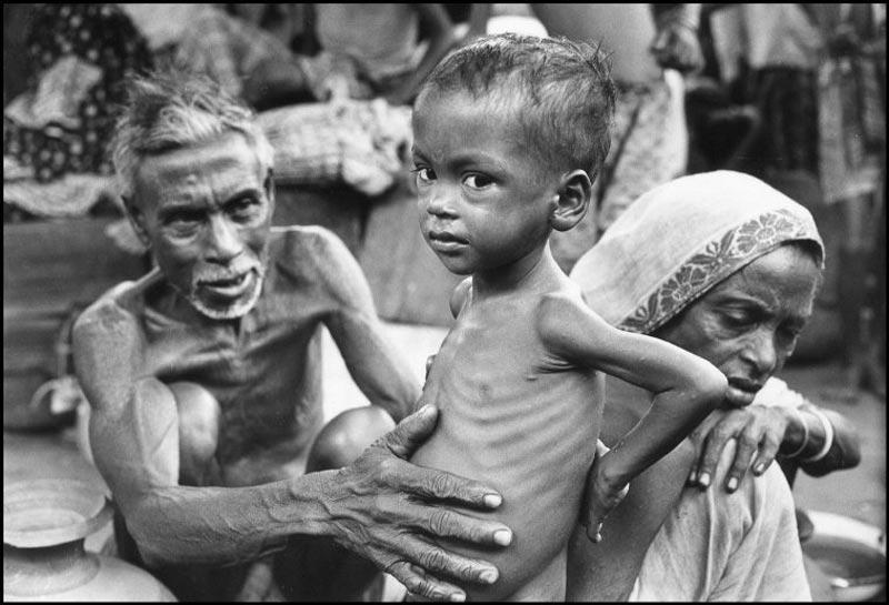 1971年11月,在印度的孟加拉难民。