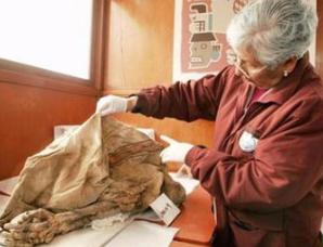 秘鲁发现前印加千年无头木乃伊