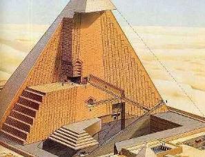 埃及金字塔内部照片曝光