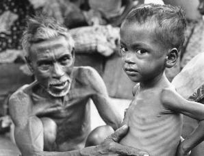 1971年孟加拉独立战争中难民惨状
