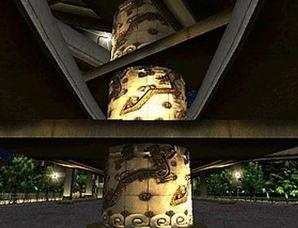 上海延安路高架银底金纹龙柱灵异事件