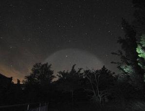 中国各地的超级飞碟实为燃料云