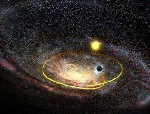 """天文发现超大银河系""""人马座A""""双胞胎黑洞"""