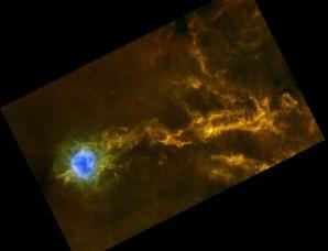 银河系内星际音爆形成复杂的宇宙细丝